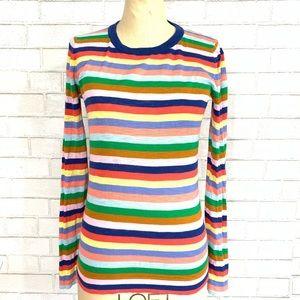 J. Crew mixed stripe sweater 🐰